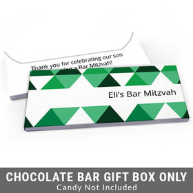 Deluxe Personalized Triangle Pattern Bar Mitzvah Candy Bar Favor Box