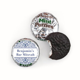 Personalized Bar Mitzvah Judaic Joy Pearson's Mint Patties