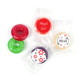 Personalized Bar Mitzvah Scroll & Stars LifeSavers 5 Flavor Hard Candy
