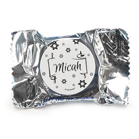 Personalized Bar Mitzvah Scroll & Stars York Peppermint Patties