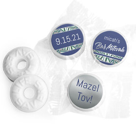 Personalized Bar Mitzvah Symbolic Stripes Life Savers Mints