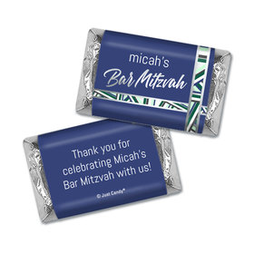 Personalized Bat Mitzvah Symbolic Stripes Hershey's Miniatures
