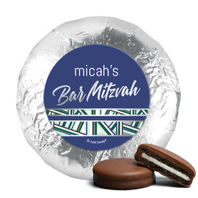 Personalized Bar Mitzvah Symbolic Stripes Chocolate Covered Oreos Cookies