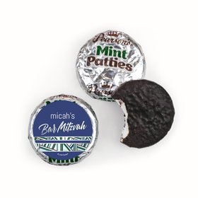 Personalized Bar Mitzvah Symbolic Stripes Pearson's Mint Patties