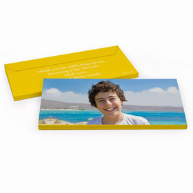 Deluxe Personalized Add Your Photo Bar Mitzvah Chocolate Bar in Gift Box