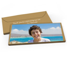 Deluxe Personalized Add Your Photo Bar Mitzvah Candy Bar Favor Box