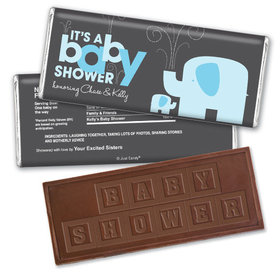 Elephant Shower Personalized Embossed Chocolate Bar Assembled
