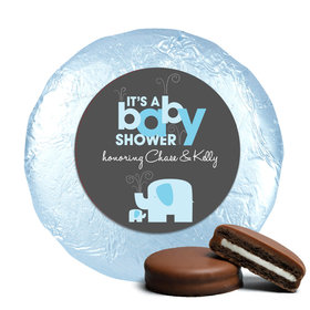 Elephant Shower Milk Chocolate Covered Oreo Cookies Assembled