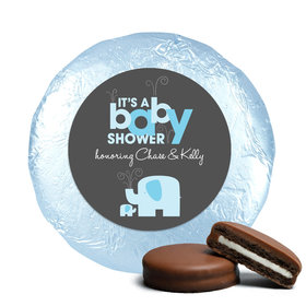 Elephant Shower Belgian Chocolate Covered Oreo Cookies Assembled (24 Pack)