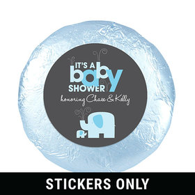 "Elephant Shower 1.25"" Sticker (48 Stickers)"