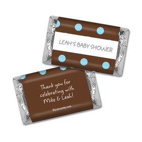 Polka Dot Shower Personalized Miniature Wrappers
