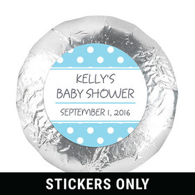 "Polka Dot Shower 1.25"" Sticker (48 Stickers)"