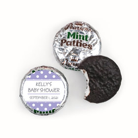 Baby Shower Personalized Pearson's Mint Patties Polka Dot