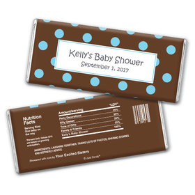 Baby Shower Personalized Chocolate Bar Polka Dot