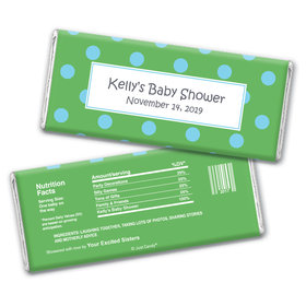 Polka Dot Shower Personalized Candy Bar - Wrapper Only