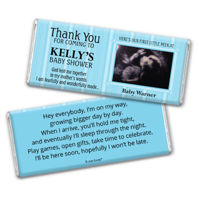 Chocolate Baby Shower Favors First Peek Hershey Bar Wrapper