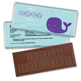 Whale Babies Personalized Embossed Chocolate Bar Assembled