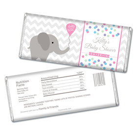 Baby Shower Personalized Chocolate Bar Chevron Dots Elephant