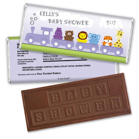 Baby Express Personalized Embossed Chocolate Bar Assembled