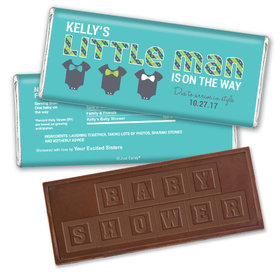 Bow Tie Baby Personalized Embossed Chocolate Bar Assembled