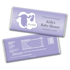 Here Comes the Stork Personalized Candy Bar - Wrapper Only