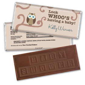 Look Whoo Personalized Embossed Chocolate Bar Assembled