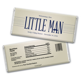 Little Man Personalized Candy Bar - Wrapper Only