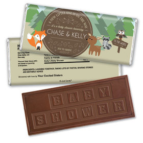Forest Friends Personalized Embossed Chocolate Bar Assembled