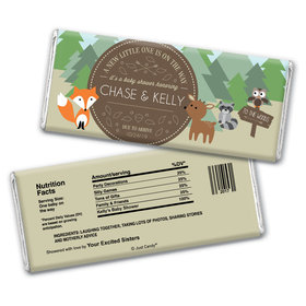 Forest Friends Personalized Candy Bar - Wrapper Only