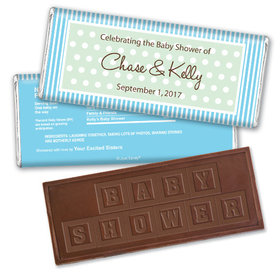 Whoa Baby Personalized Embossed Chocolate Bar Assembled