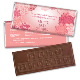 New Bloom Personalized Embossed Chocolate Bar Assembled