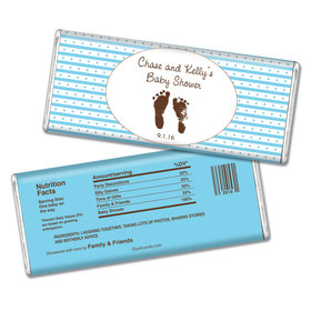 Baby Shower Personalized Chocolate Bar Footprints