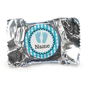 Sweet Baby Feet Blue Personalized York Peppermint Patties (84 Pack)