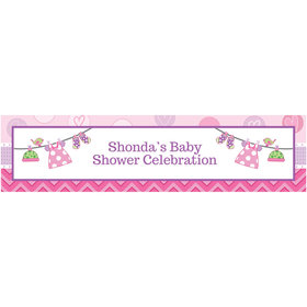 Personalized Shower with Love Girl Banner