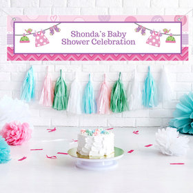 Personalized Shower with Love Girl 5 Ft. Banner