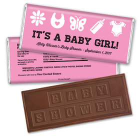 Baby Girl Things Personalized Embossed Chocolate Bar Assembled