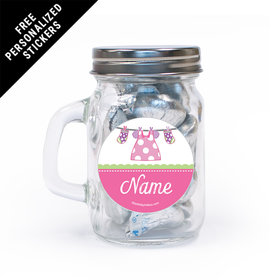 Shower with Love Girl Personalized Mini Mason Jar 12 Pack