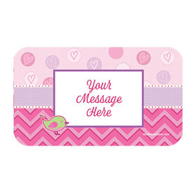 Shower with Love Girl Personalized Rectangular Stickers (18 Stickers)
