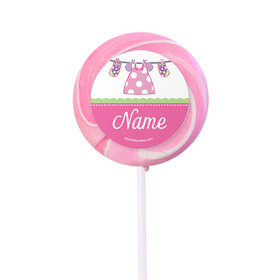 """Shower with Love Girl Personalized 2"""" Lollipops (24 Pack)"""