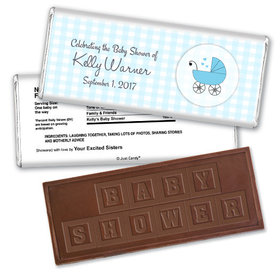 Cute Carriage Personalized Embossed Chocolate Bar Assembled