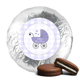 Baby Shower Chocolate Covered Oreos Gingham Carriage (24 Pack)