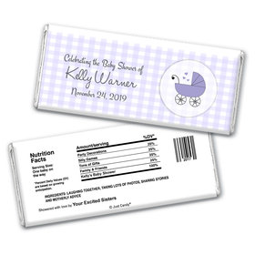 Cute Carriage Personalized Candy Bar - Wrapper Only