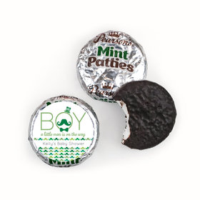 Baby Shower Personalized Pearson's Mint Patties Mustache Bash