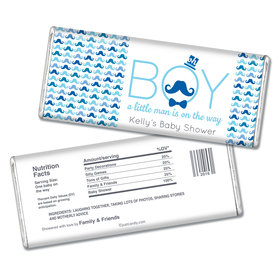 Baby Shower Personalized Chocolate Bar Mustache Bash