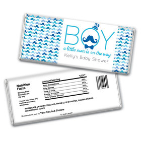 Mustache Bash Personalized Candy Bar - Wrapper Only