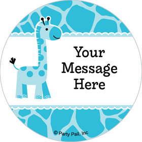 "Sweet Safari Boy Personalized 2"" Stickers (20 Stickers)"