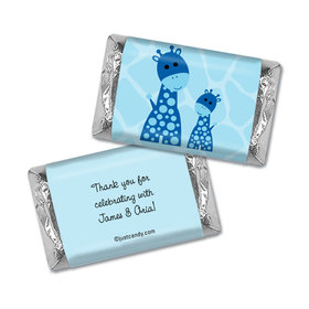 Giraffe Shower Personalized Miniature Wrappers