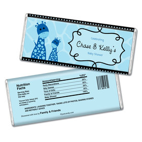 Baby Shower Personalized Chocolate Bar Giraffe
