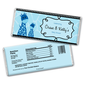 Giraffe Shower Personalized Candy Bar - Wrapper Only