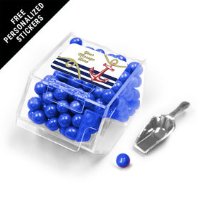 Nautical Personalized Candy Bin Dispenser with Scoop 12 Pack